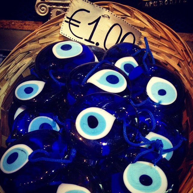 Basket of evil eye protection anyone?? #Athens #greece #thisisathens #shopping