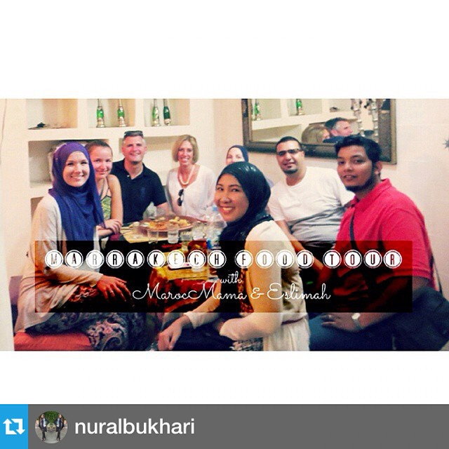 #Repost from my friend @nuralbukhari (a fellow #expat in Marrakech) on our #MarakkechFoodTour ! On the fence? Make sure to check this out!! New #vlog is up on our #ilovelookinggood #youtube channel featuring @eslimah and @marocmama.  Link is up on the profile ☝☝☝ Go check it out.