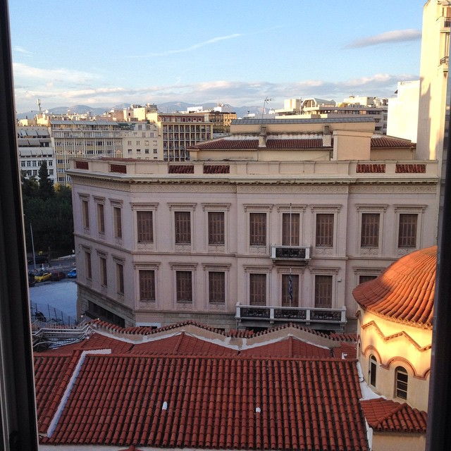 Why hello #Athens! The view from our apartment window. I'm here until Sunday! #Greece #TBEX14