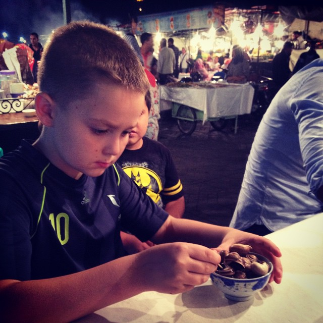 Tonight he wanted snails. The verdict was