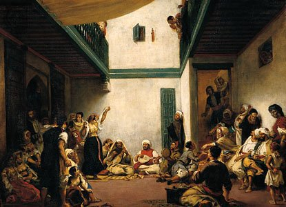Jewish Wedding in Morocco, oil on canvas by Eugène Delacroix, 1837–41; in the Louvre, Paris