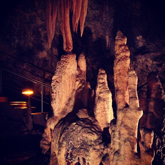 Our last day in #Greece we went cave exploring. Such amazing formations! #mythicalpeloponnese #tbexathens #spelunking #caves #kapsia