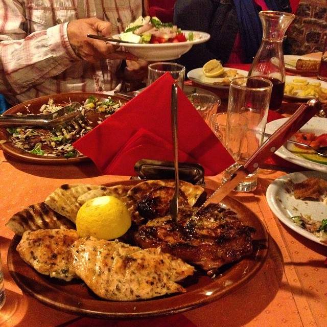 Dinner in Tripoli (Greece!) best meal I've had in Greece hands down. #foodie #travel #dinner #mythicalpeloponnese