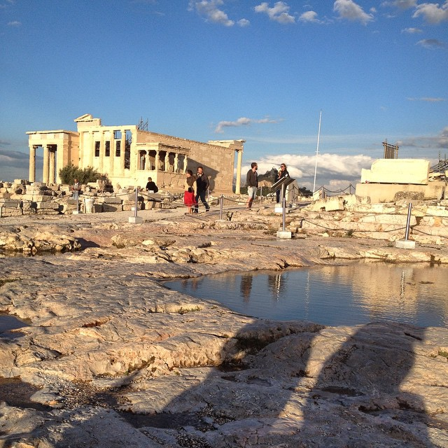 Woke up to news this morning that parts of #Athens flooded. Not our part! Check out the puddles on the Acropolis! #ImAnAthenian #thisisathens #tbexathens #greece