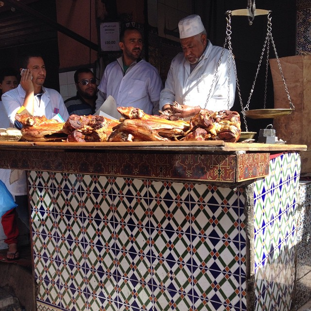 The Mechoui men dividing up the meat. I have to take some of this home soon. Many many recipe ideas in mind! #everydaymorocco #Marrakech #foodie