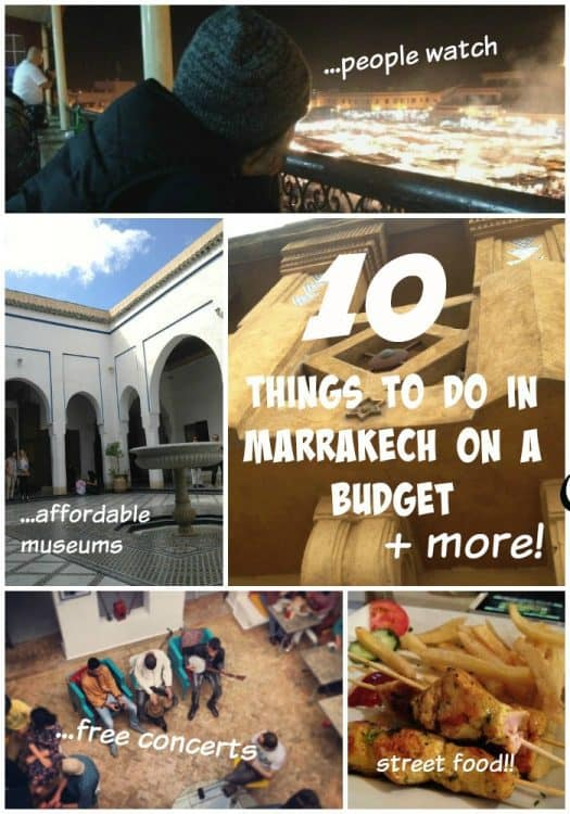 10 Things to Do in Marrakech on a Budget