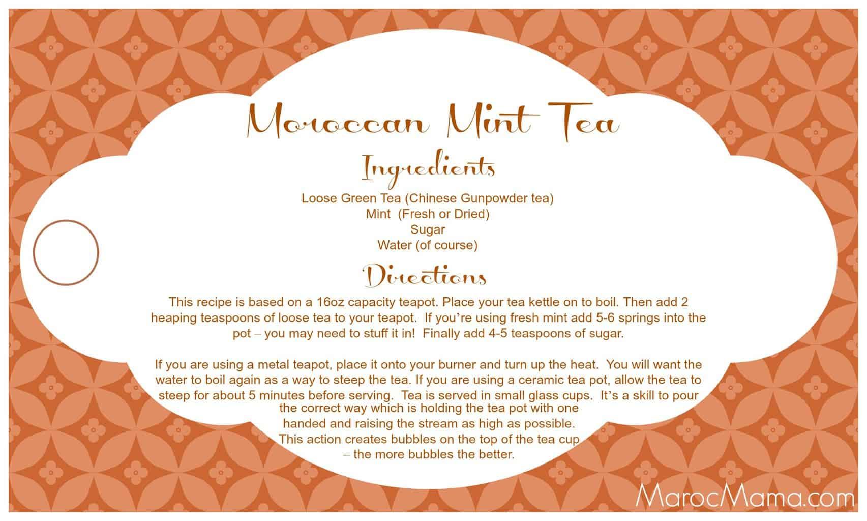 Mint Tea Gift Tag