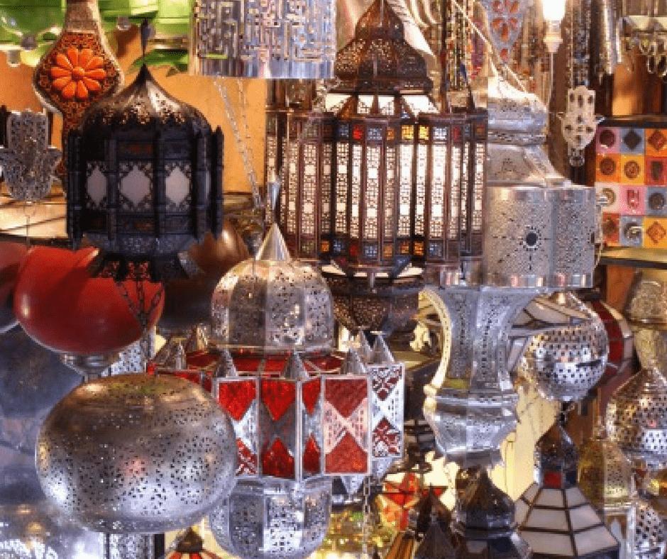 Buying Moroccan lanterns