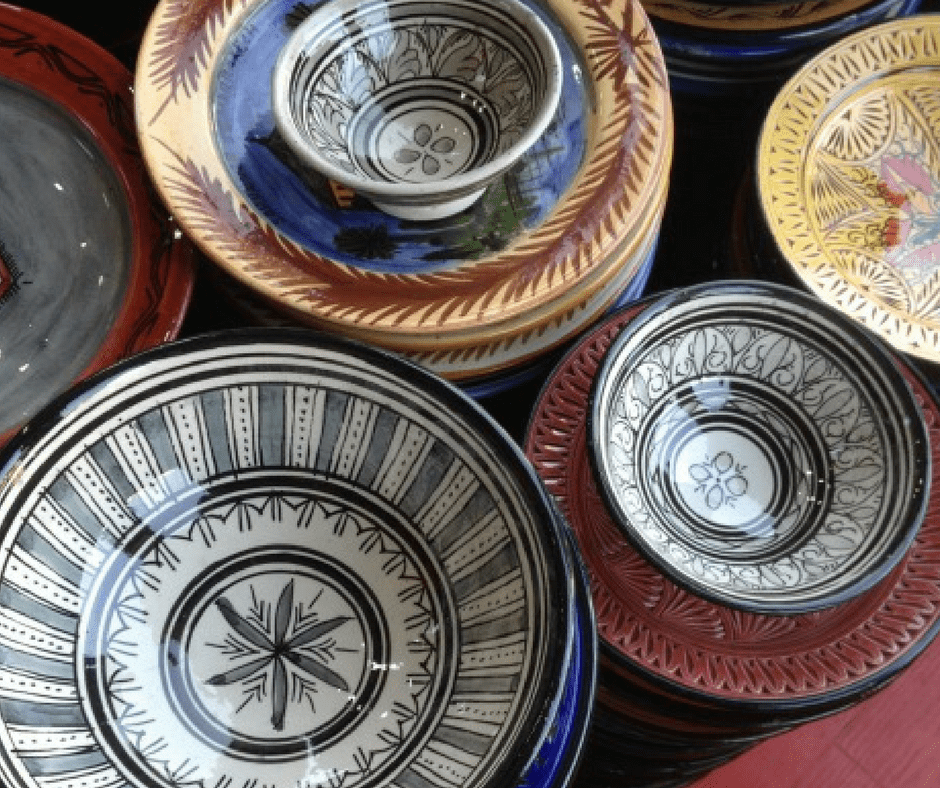 Moroccan ceramics are an inexpensive and memorable souvenir.