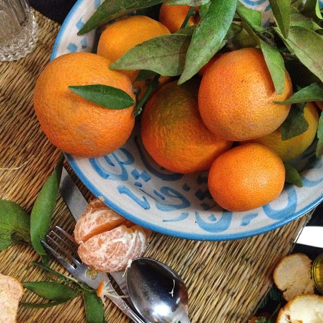 End the night with something sweet. The rain is still coming down, stomachs are full, dishes washed. Clementines are the color and taste of winter in Morocco. #Mareakech #fruit #winter #color