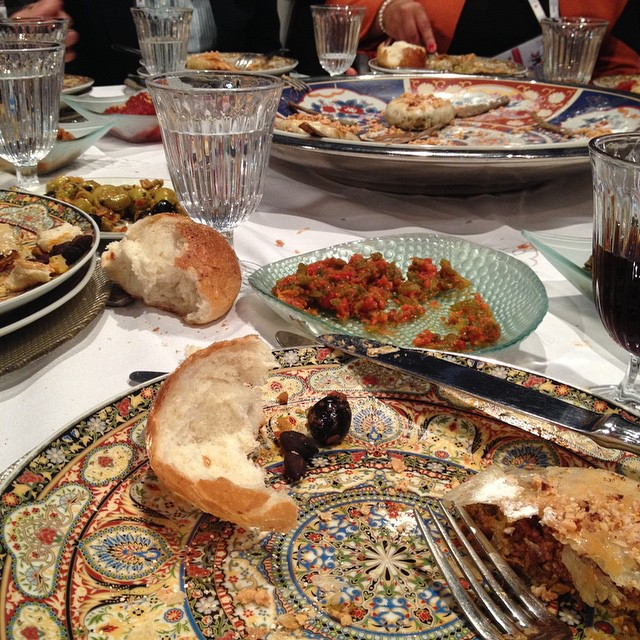 The spoils of a networking lunch over delicious Moroccan food! #ges2014 #morocco #foodie