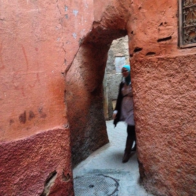 Wandering through the medina with MarocBaba. These little streets are my favorite! #marrakech #morocco #urban #streets #getlost #travel #igersmorocco