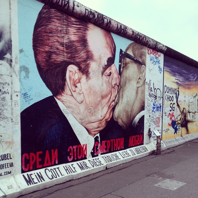The iconic Berlin Wall image. #berlin #germany #streetart #germany25years #history