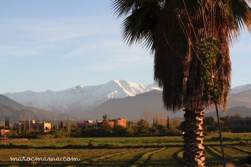 Aghmat at the foot of the High Atlas Moutains