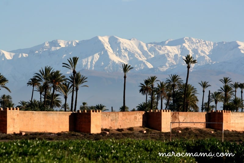 Atlas Mountains Beyond City Walls