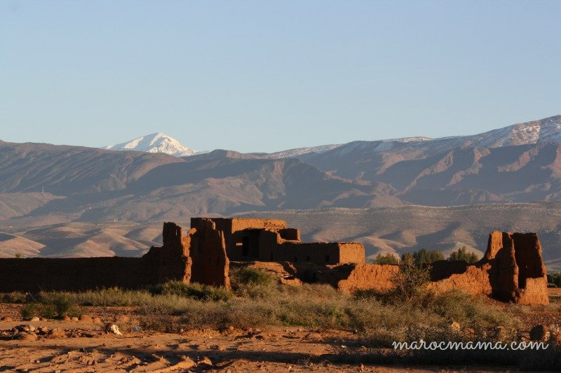 Crumbled Walls High Atlas Mountains Foothills