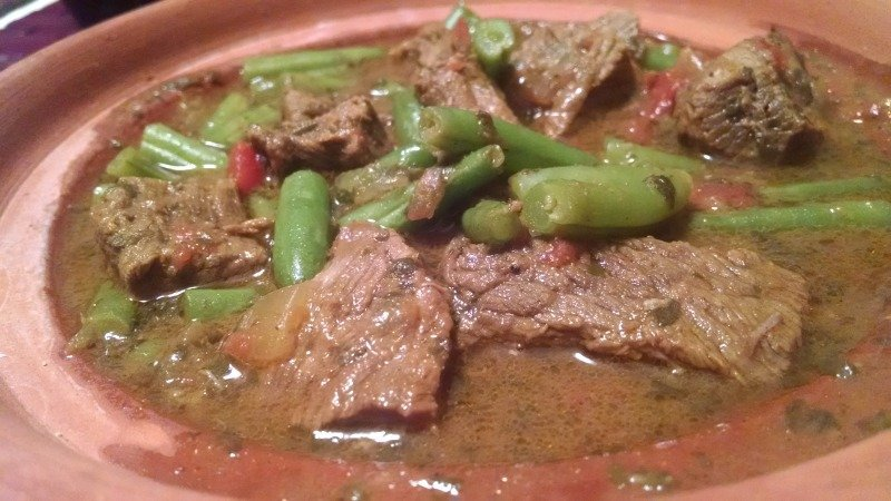Moroccan Beef and Green Bean Tajine is an easy crock pot meal with all the flavors of Morocco.