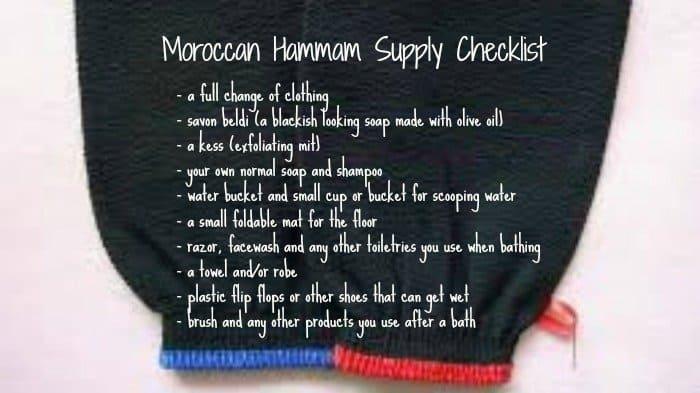 Moroccan Hammam Supply Checklist