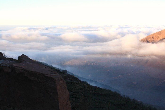 Clouds in the High Atlas Mountains