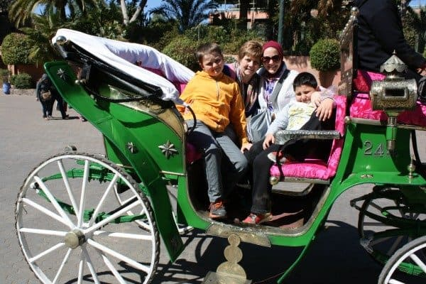 Family Clache Ride in Marrakech