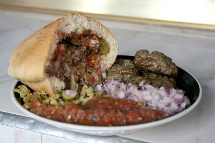 Hout Quari - Sardine Ball Sandwich in Marrakech