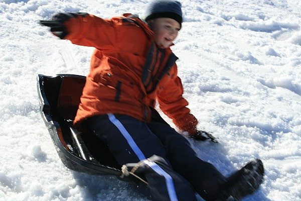 Sledding in Oukaimden