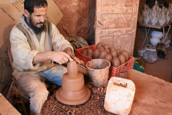 Handmade Moroccan Pottery from Safi