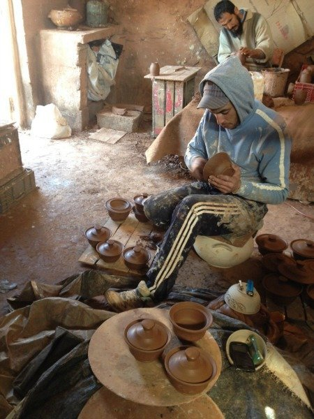 Moroccan Potters in Safi Morocco