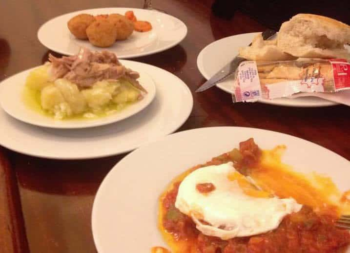 Tapas with Tuna and Eggs in Seville