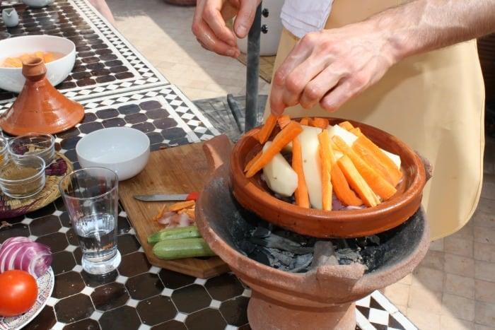 Cooking a Tajine at Riad Quara Marrakech