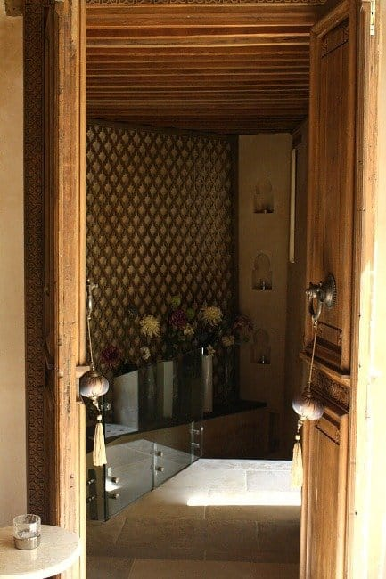 Doors to Hammam Treatment Room Karawan Riad