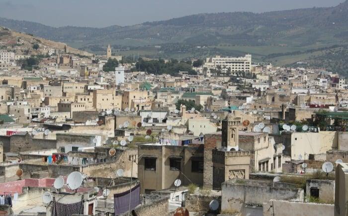 Fez Medina from Karawan Riad Rooftop