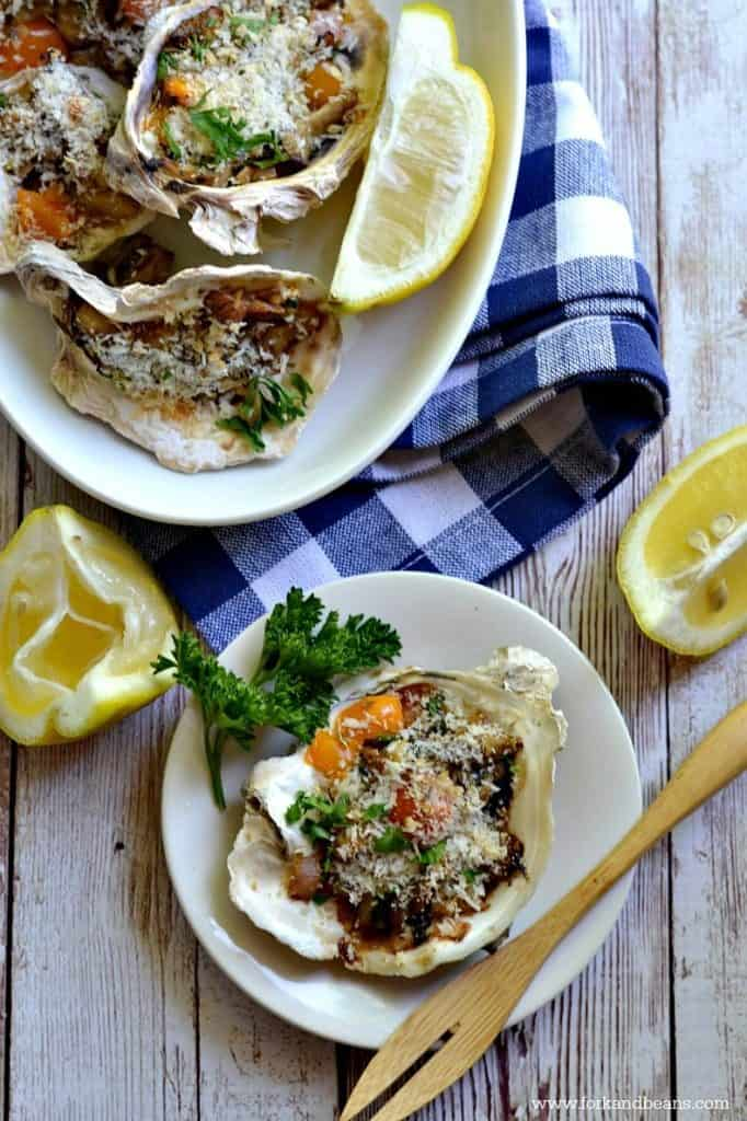Baked Oyster Mushrooms