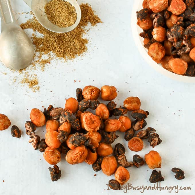 Chickpea and Black Bean Snack Mix