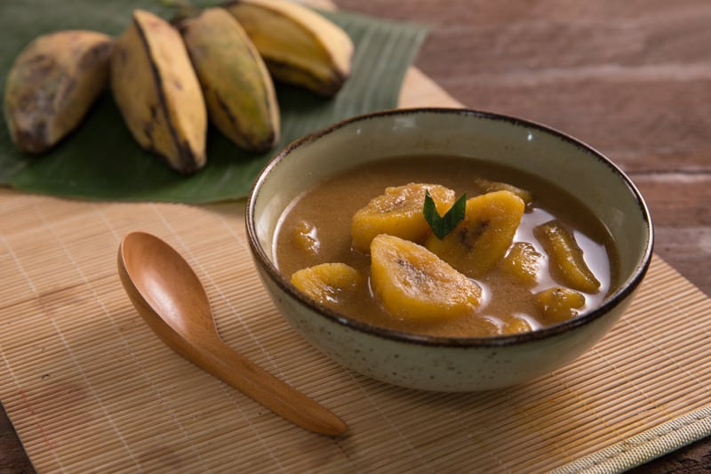 Indonesian Kolak Pisang {Sweet Potato and Banana Desert}