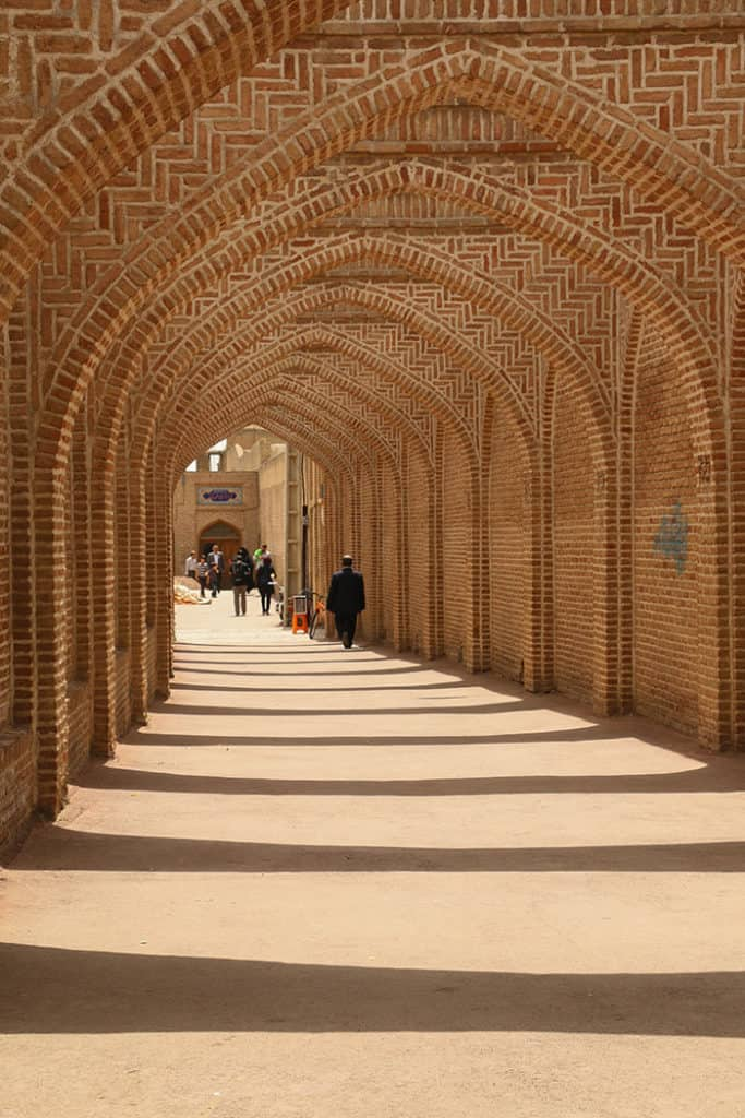 Never ending arches in Qazvin, Iran
