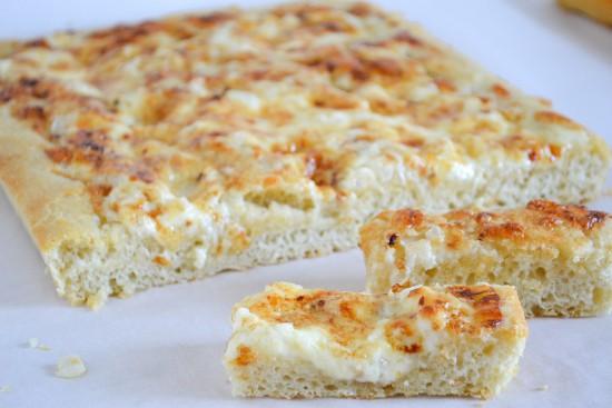 Onion Cheddar Sourdough Focaccia