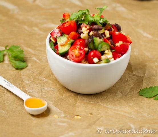 Roasted corn black bean salsa