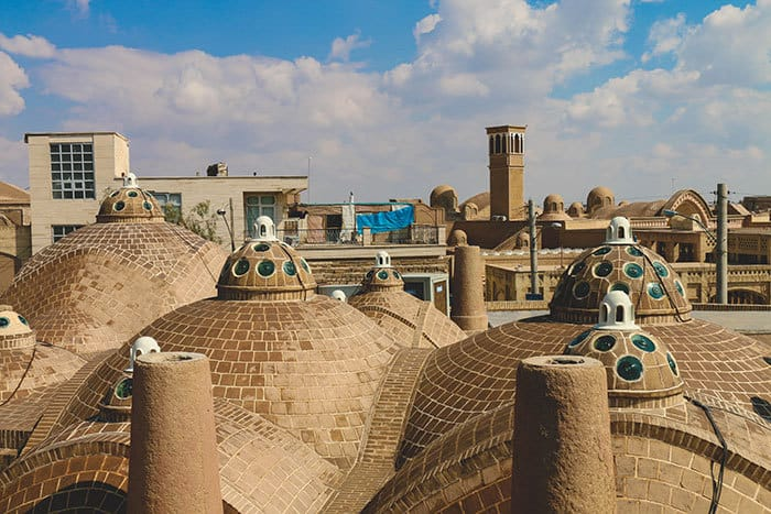 Rooftops in Kashan Iran