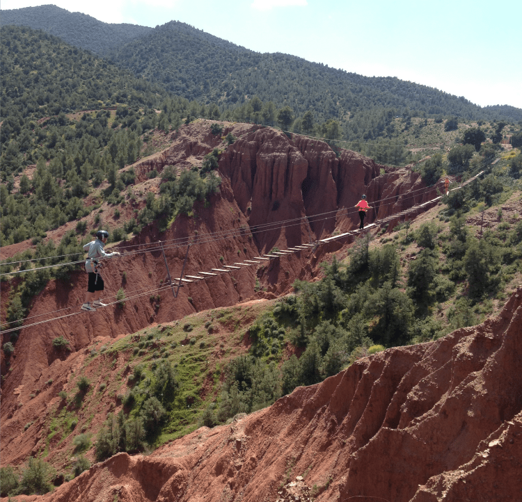 Adult Ziplining in the Atlas Mountains