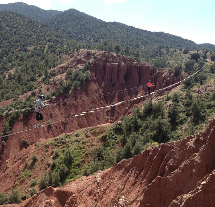 Adult Ziplining in the Atlas Mountains