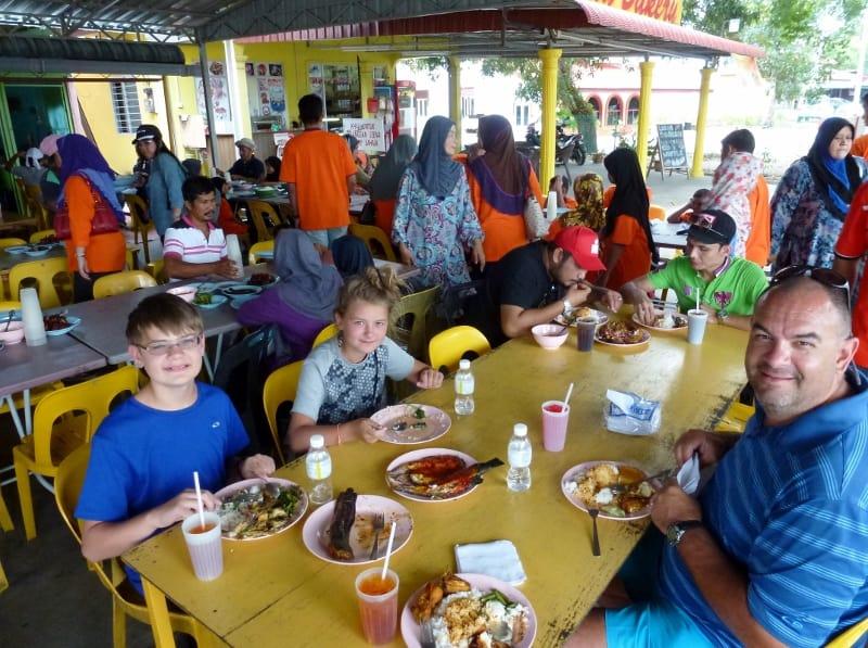 Wagoners Abroad eating local in Langkawi Restaurant Ikan Bakar Padang Mastsirat