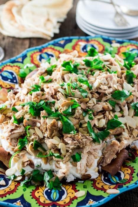 Syrian fattet djaj layered chicken platter syrian fettet djaj forumfinder Gallery