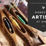 Moroccan artists at work