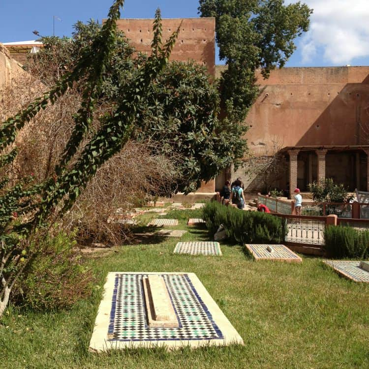 gardens at saadian tombs