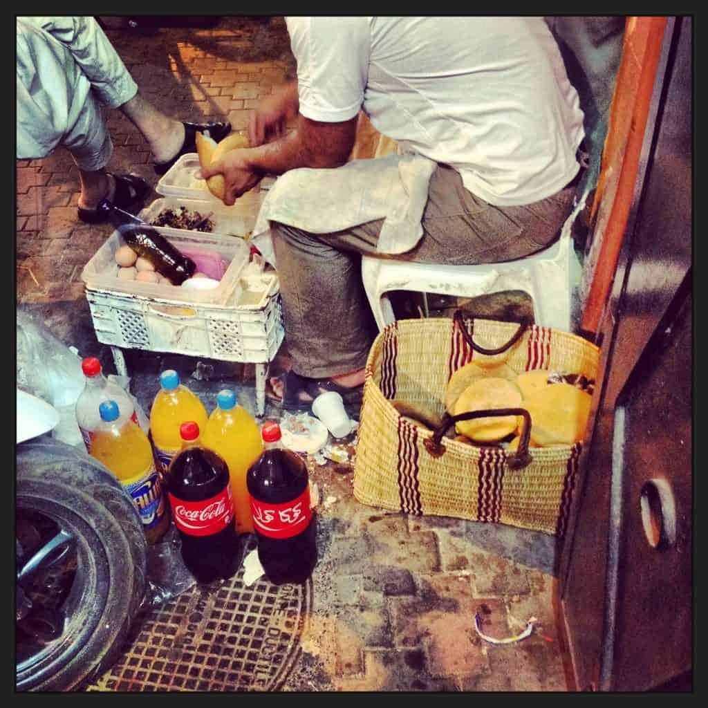 Humans of Marrakech: The Sandwich Man
