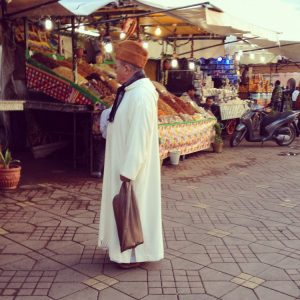 Humans of Marrakech White Robed Man