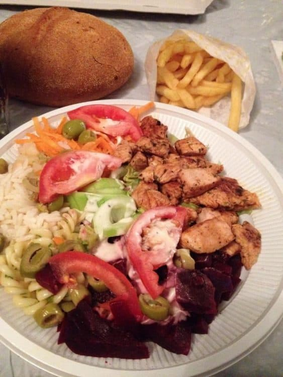 Salad Plate - 10 Moroccan Cheap Meals
