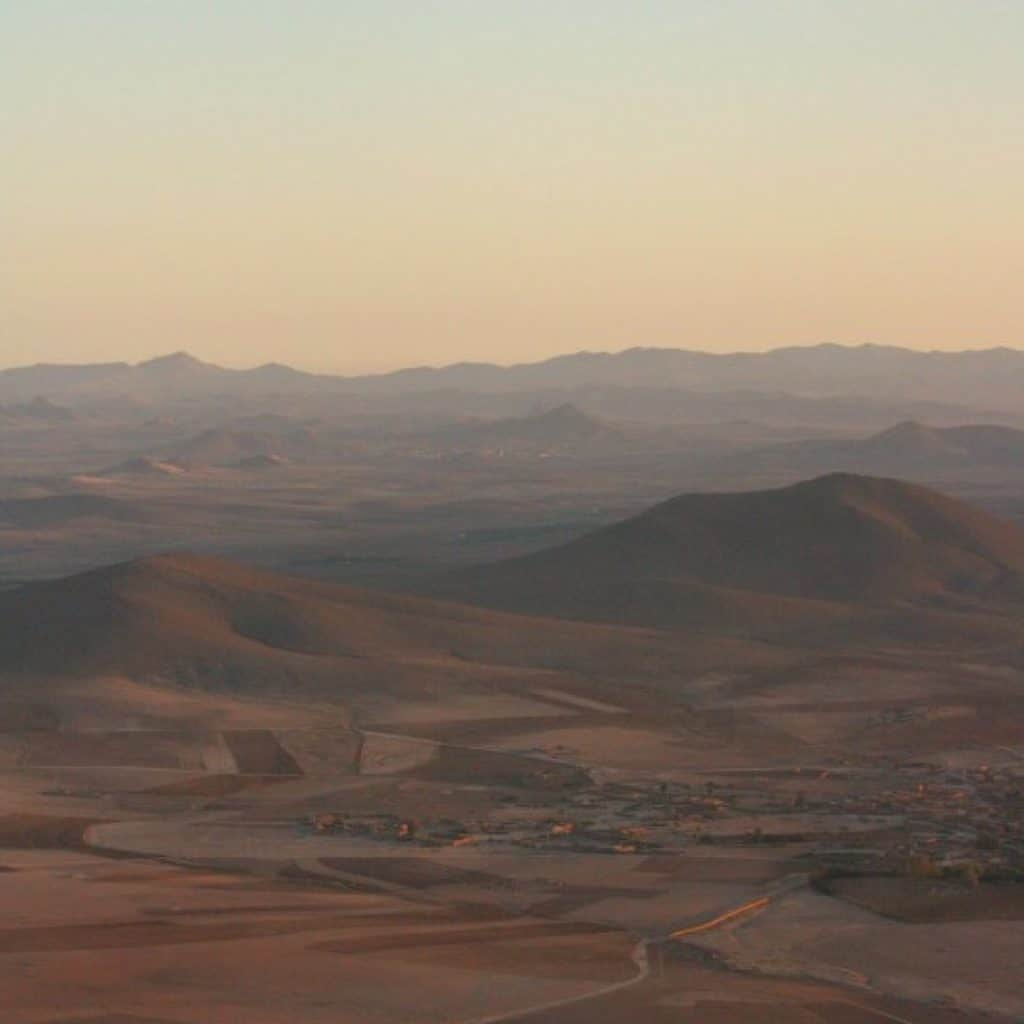 Moroccan Landscape from hot air balloon