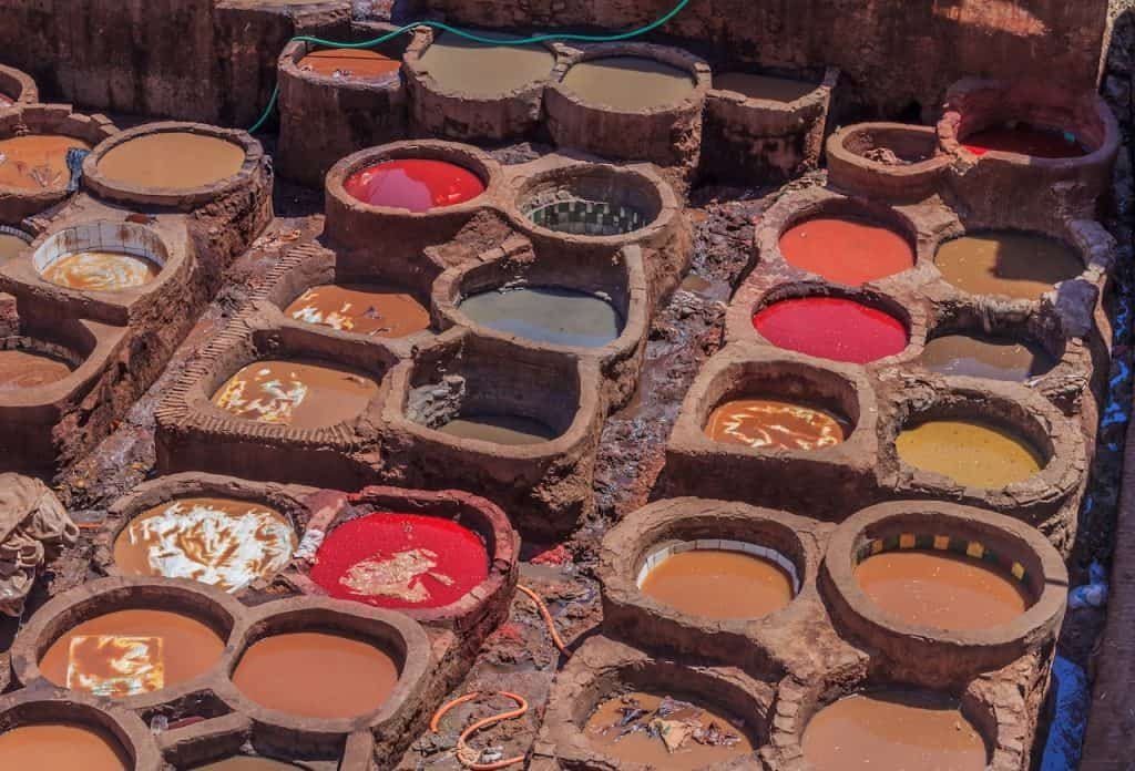 Tannery Vats in Fez_How to Avoid the Tannery Scam